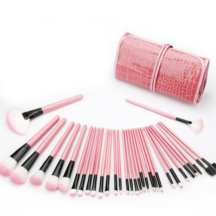 2017 A# Best Deal New Women New Fashion 32Pc Portable Slim Professional Makeup Brush
