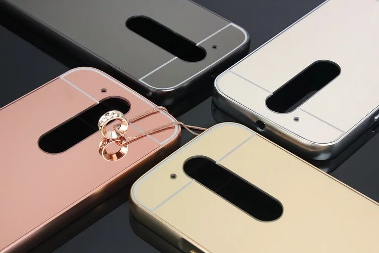 online store 89b4b 93723 US $4.48 |Luxury Metal Back Mirror Cover For Motorola Moto G4/G4 Plus moto  X Z Play Style Backpanel Phone Case-in Fitted Cases from Cellphones & ...