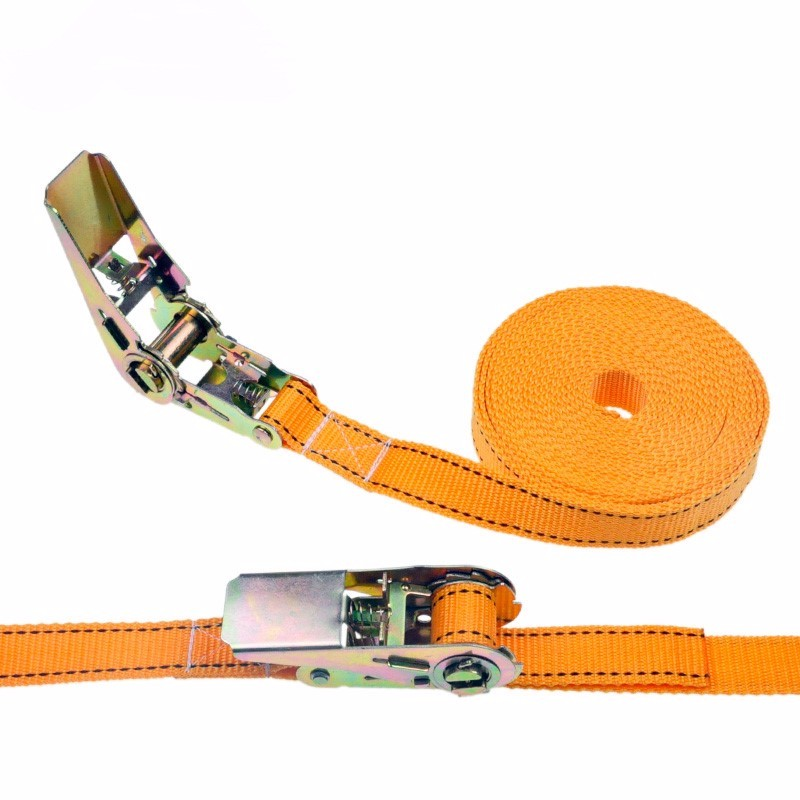 Купить с кэшбэком 1pcs 2.5cm * 2 Meters 900KG Metal Cargo Lashing Polyester Webbing Straps, Hold Secure Ratchet Tie Down Cam Buckle Winch Strap