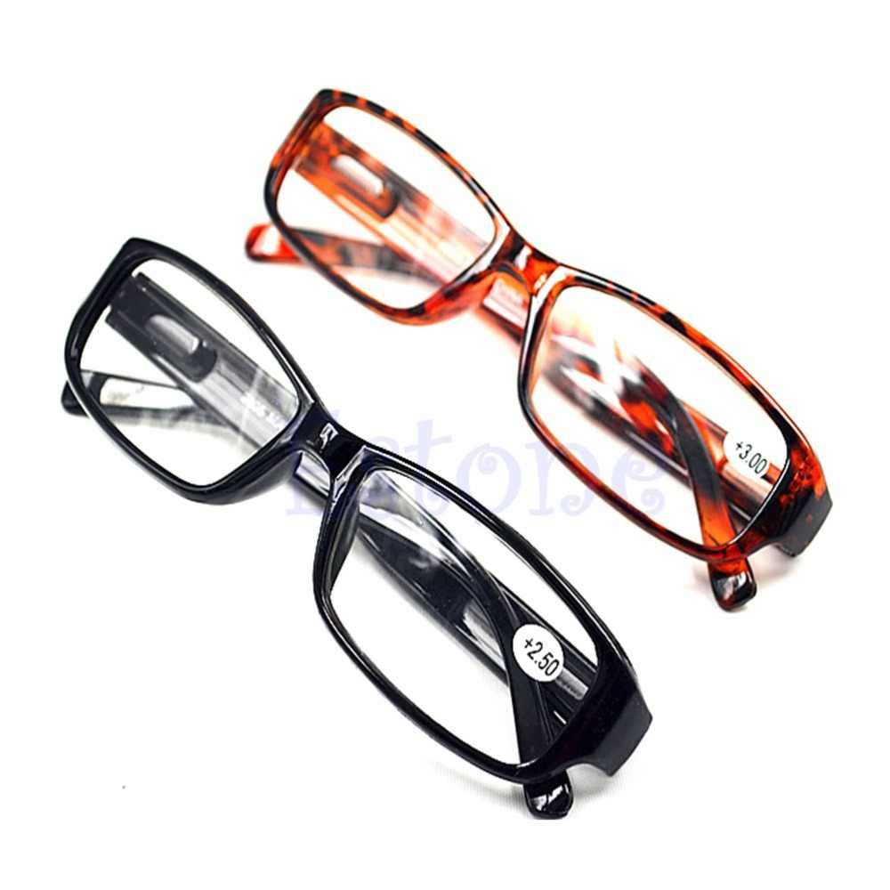 ใหม่ Unisex ผู้หญิงผู้ชายแว่นตาอ่านหนังสือ Comfy สายตายาวสายตายาวสีดำสีน้ำตาลใหม่ 1.0 1.5 2.0 2.5 3.0 Diopter Black สีน้ำตาล
