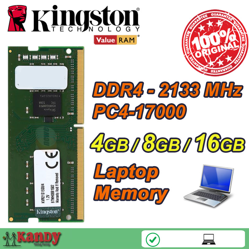 Kingston notebook laptop memory RAM DDR4 4GB 8GB 16GB 2133MHz 260 Pin SODIMM Non-ECC wholesale for Lenovo ThinkPad SONY Acer HP 4gb pc2 5300s ddr2 667 667mhz ddr2 laptop memory cl5 0 sodimm notebook ram non ecc 200pin 2rx16 low density