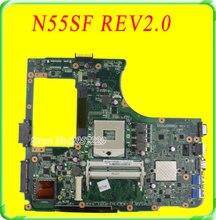 Pour la Carte Mère Asus N55S N55SL N55SF Rev 2.0 Carte Mère 60-N5FMB3600 Livraison Gratuite Entièrement Testé