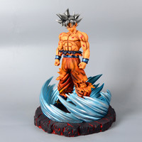 13 Inch Dragon Ball Son Goku Silver Hair Paraplatform GK Statue RESIN Action Figure Collection Model Toy M1807