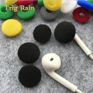 Image 5 - 20 pçs almofadas para fones de ouvido espuma 18mm esponja bluetooth fones substituição fone de ouvido capas mp3 mp4 moblie telefone