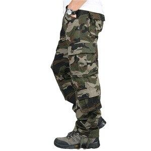Image 3 - Autumn Winter Military Camo Pants Men Loose Cotton Army Trousers Casual Hip Hop Cargo Camouflage Pants Men Pantalon Camuflaje