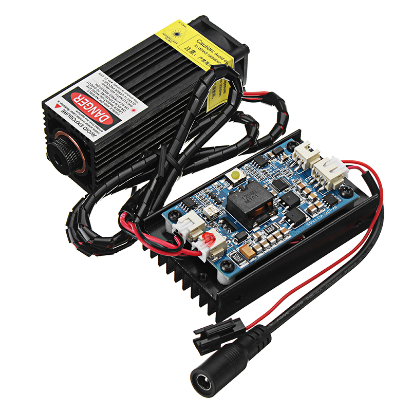 450nm 5 watt Laser Gravur Modul Blau Licht Mit TTL-Modulation Für Laser Schneiden maschine Gravur Maschine CNC DIY