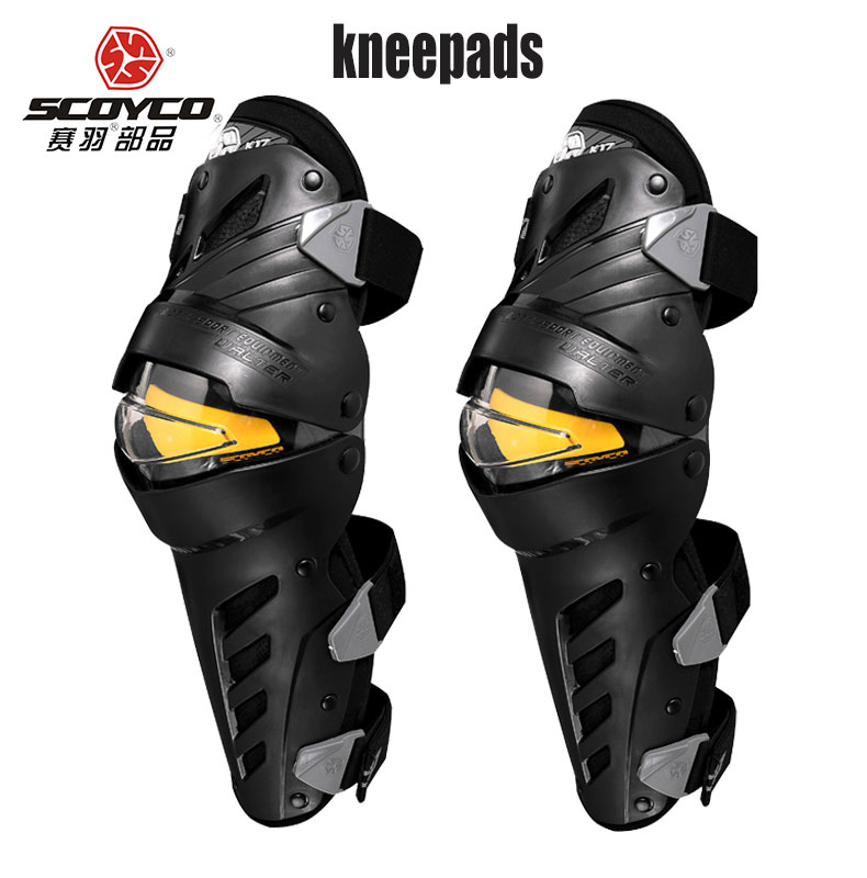 SCOYCO k17h17 Motocross Knee Pads Motorcycle Knee Protector And Elbow Protector Outdoor Sports Motorcycle Equipment 7pcs xiaomi skating cycling helmet knee pads elbow wrist brace set