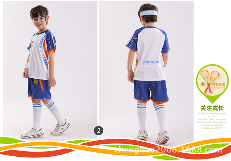 3ebbe66a7f4 2016 boys soccer set children s suits Summer soccer jerseys clothes kids  sport twinset boy football training suit100% polyester-in Clothing Sets  from Mother ...