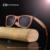 2017 do Sexo Masculino Óculos De Sol De Bambu Polarizada Espelho Quadrado De Madeira Unissex Óculos de Sol de Lentes Verde Óculos De Sol De Bambu De Madeira Caso de Luxo