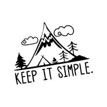 Keep It Simple Mountains Vinyl Pine Tree travel Laptop Car Sticker