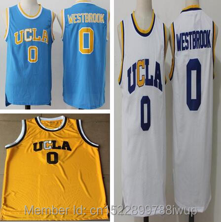 2018 Dwayne Mens Russell Westbrook #0 UCLA Bruins Blue Stitched Basketball jersey size S-XXL ...