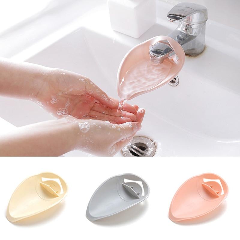 1Pcs Children Hand Wash Tool Plastic Kitchen Portable Sink Handle Extension Bathroom Accessorie Solid Color Faucet Extender