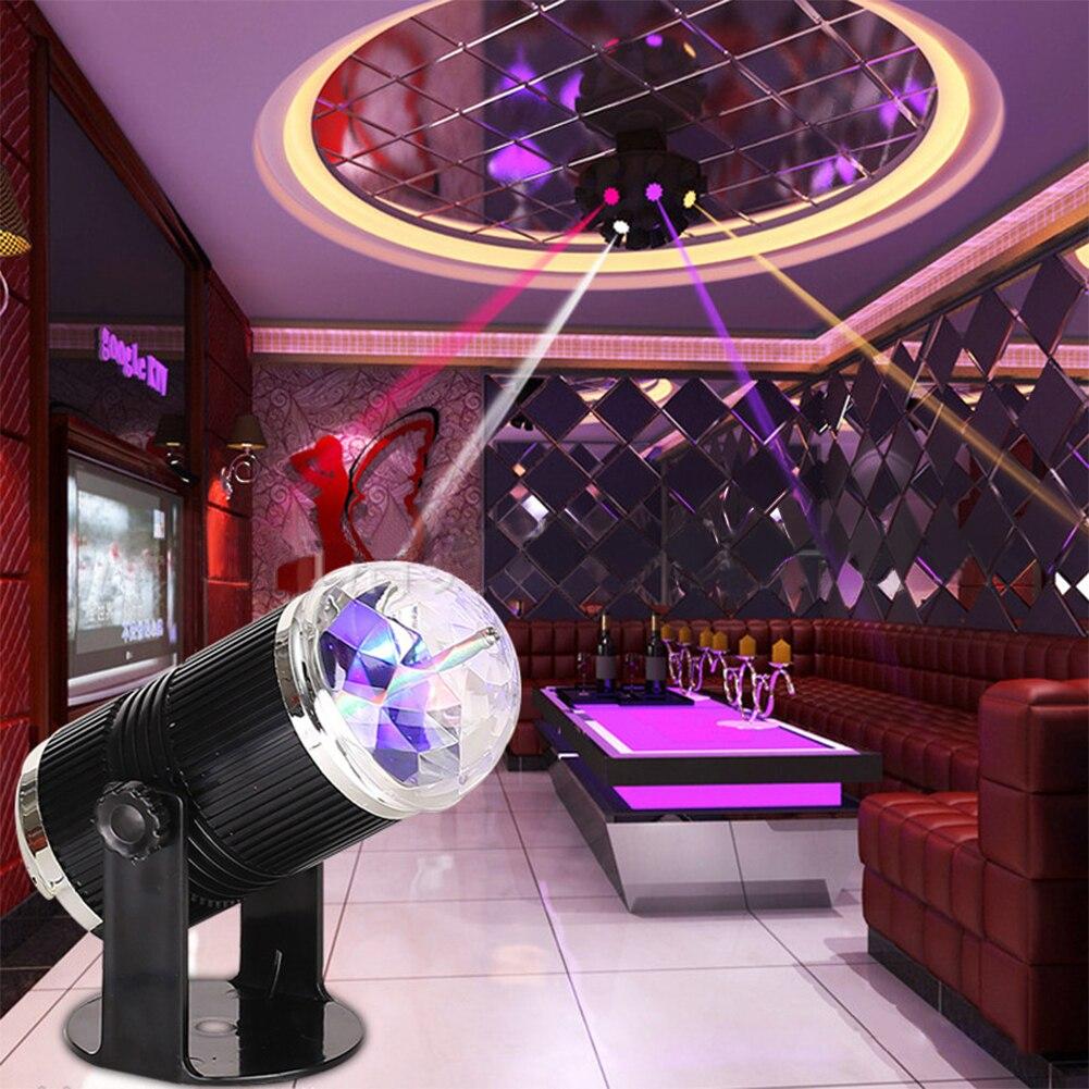 RGB led Stage Effect Light Crystal Auto Sound Magic Ball Disco Stage Lighting Effect Laser Projector party DJ club Lamp Digital mlb 3 magic ball style 4w auto rgb led stage light black ac 90 240v