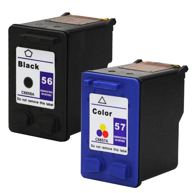 For HP 56 57 Ink Cartridge for HP56 57 Deskjet 5150 450CI 5550 5650 7760 9650 PSC 1315 1350 2110 2210 2410 printer