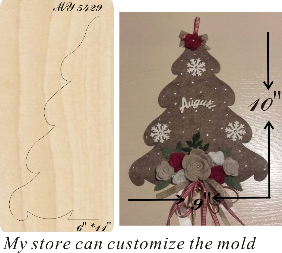 Christmas tree new wooden mould cutting dies for scrapbooking Thickness 15 8mm