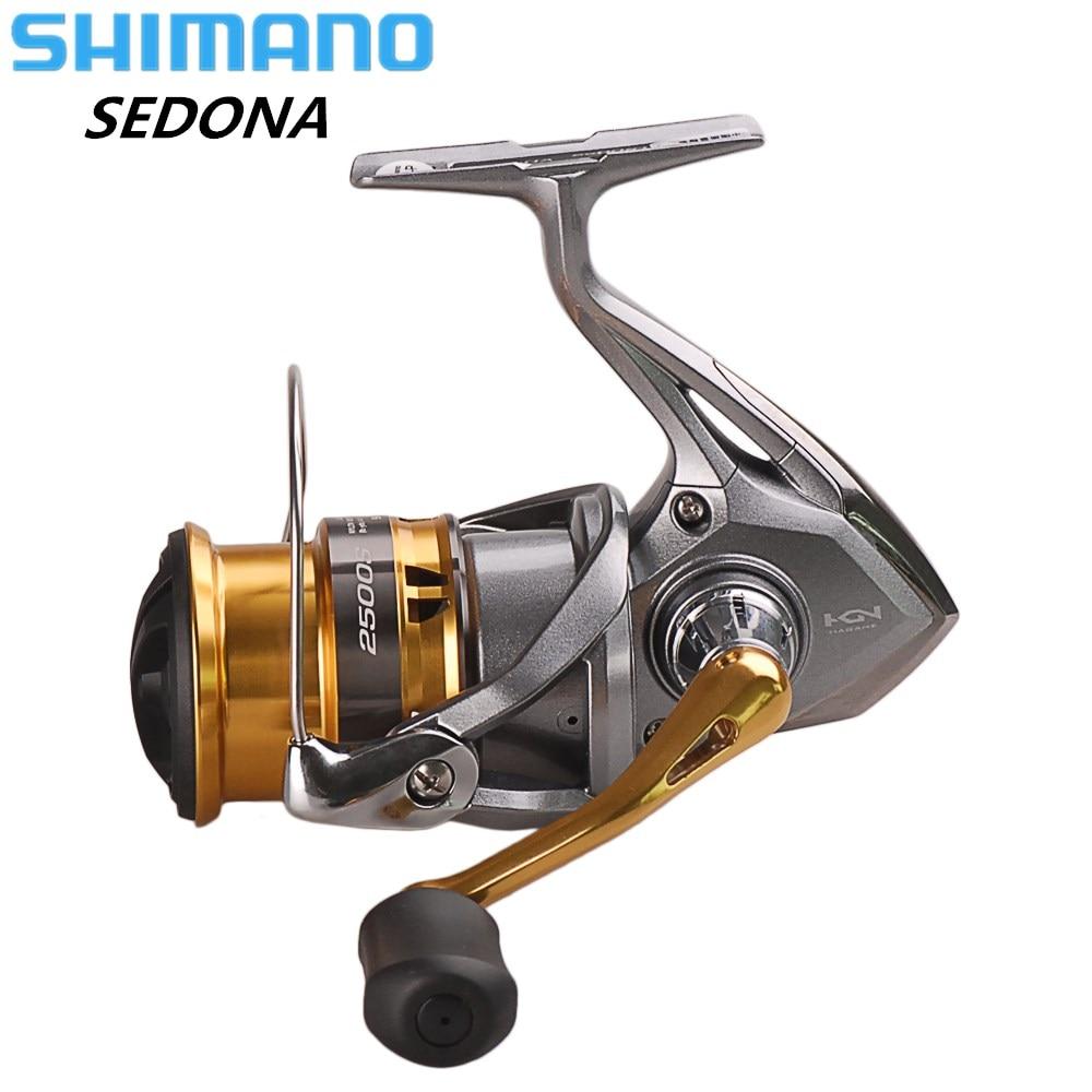 SHIMANO SEDONA C2000S/C2000HGS/2500 s/2500HG/C3000HG/4000/C5000XG Spinning Angeln Reel Salzwasser HAGANE Getriebe Spinning Rad