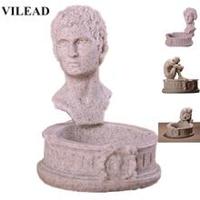 VILEAD Sandstone David Ashtray Figurines Venus Miniatures Creative Meditator Decoration for Office Vintage Home Decor