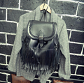 stacy bag 031516 hot sale female fashion PU leather tassel bag lady travel backpack