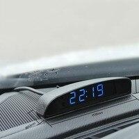 12 V Acessórios Do Carro Digital Led Data Relógio Carro Relógio Eletrônico Relógio Carro Ornamento 4 Em 1 Termômetro Voltage Monitor de araba aksesuar
