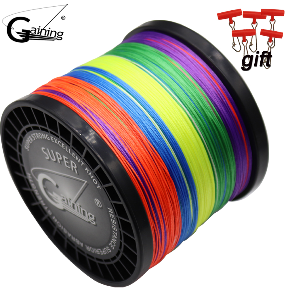 цены Gaining 16 Strands Braided Fishing Line 1000m Super Strong Japanese Multifilament PE Braid Line 59LB 77LB 94LB 127LB 220LB 308LB