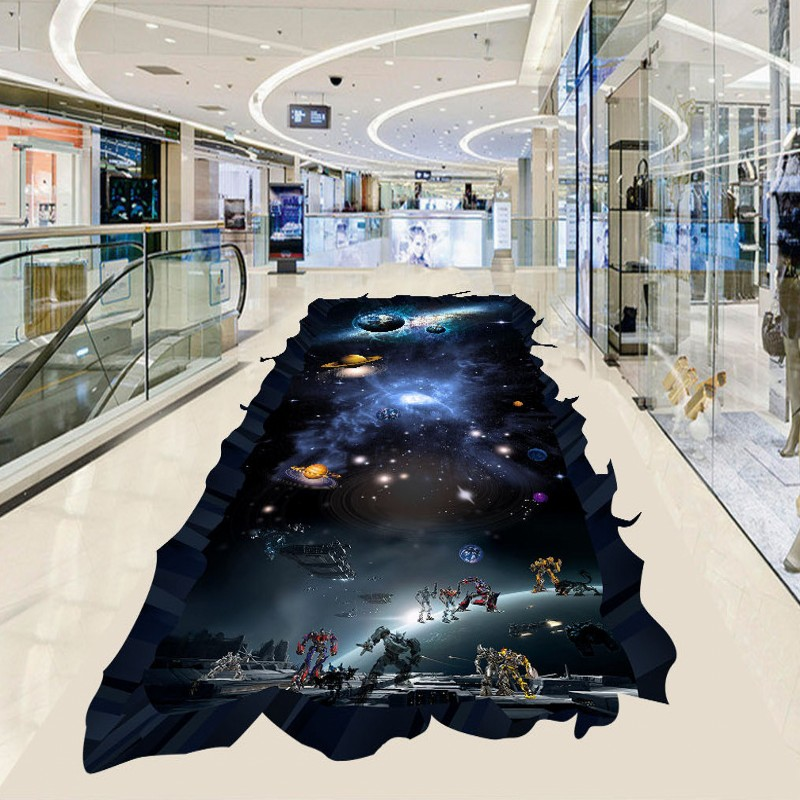 Gratis Verzending Cosmic Ster Aarde 3D vloeren verdikte waterdicht ...