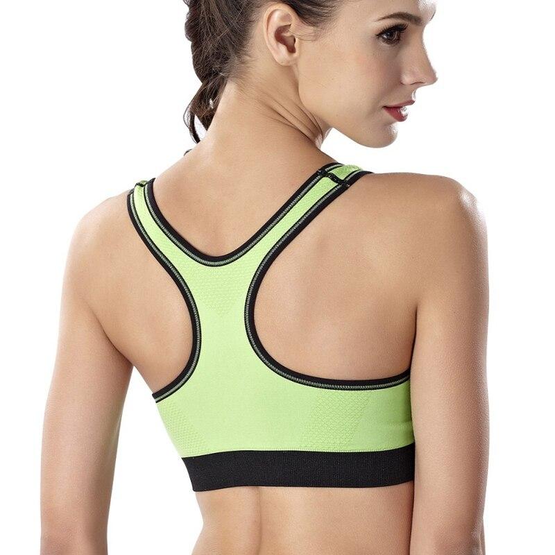 Summer Sexy Underwear Women Fitness Bra Push Up Tank Zipper Stretch With Inner Padded Workout Tops Adjustable Strap Tank Tops in Bras from Underwear Sleepwears