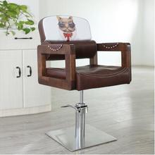 European barbershop chair. Retro hair chair1 Can be inverted clipping chair