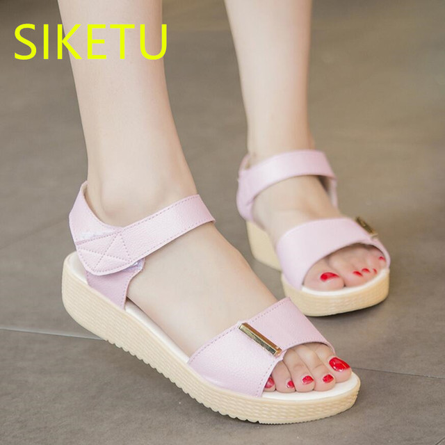 e12acaeeee SIKETU Women shoes Free shipping 2017 Summer sandals Fashion casual shoes  lx061 new sex flip flops Flat shoes flat Simple -in Women's Sandals from ...