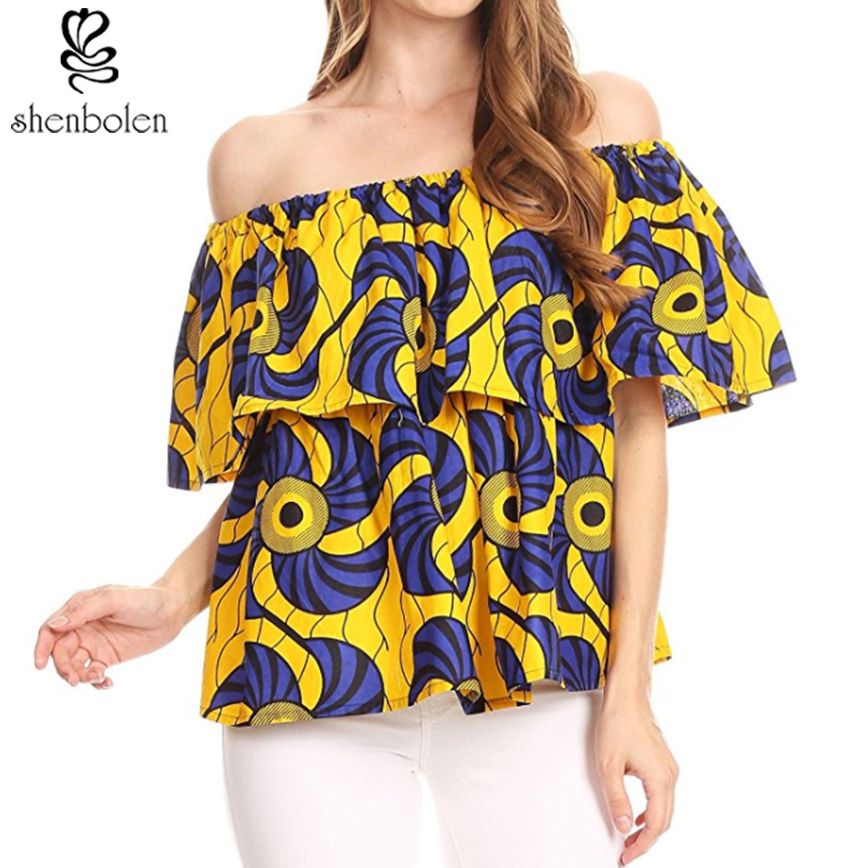 06abe45994 shenbolen 2018 New African Print Shirt For Women Dashiki Print Top  Traditional National Clothing-in Africa Clothing from Novelty   Special Use  on ...
