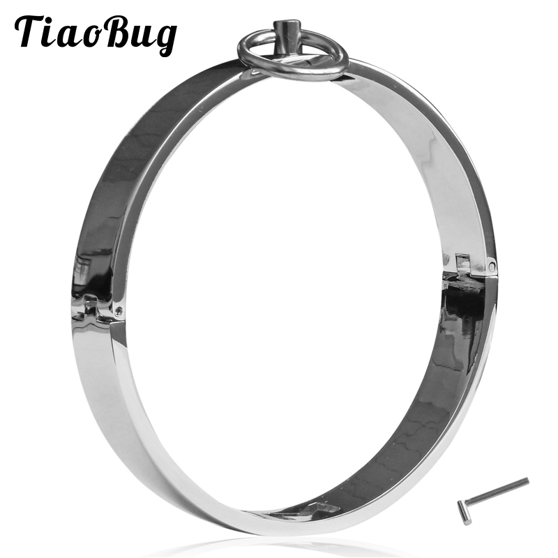 New Toys Female Stainless Steel Metal Neck Collar Sex Slave Role Play Necklace For Women Fetish Restraint Bondage Ring Set