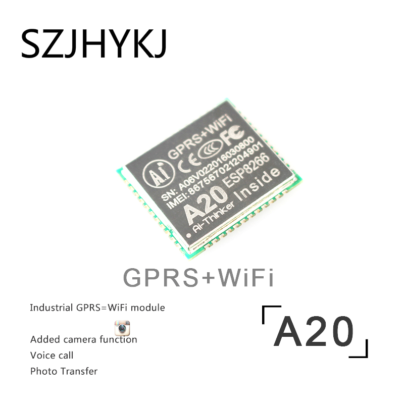 SZJHYKJ ESP8266 A20 Wifi GPRS Module Camera ESP8266 SMS Voice Wireless Quad-band GSM For ESP32 Board By diy FZ2651 m35 gsm gprs cell phone development board module w voice interface antenna blue