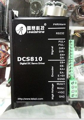 Leadshine DCS810 Digital DC Brush Servo Drive, up to 80VDC/20A XWJ leadshine dc servo drives dcs810 work 24 80 vdc out 1a to 20a fit for dcm50207 dcm50205 dc brush servo motor