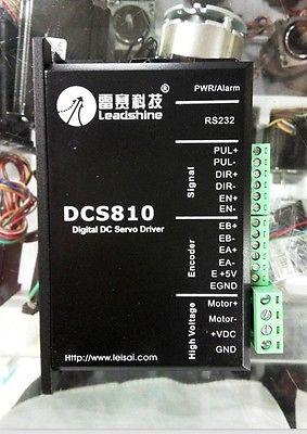 Leadshine DCS810 Digital DC Brush Servo Drive, up to 80VDC/20A XWJ new original leadshine dcs810 brushed dsp digital dc servo drive 18 80vdc 0 20a to drive 50w 80w 120w brushed dc servo motors