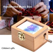 2019 1 PC Wooden Handmade Music Boxes Pretty Hand Crank Towe