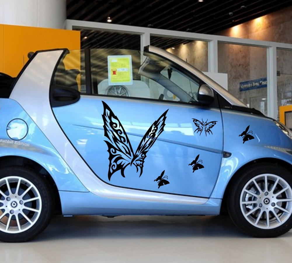 Smart car sticker designs - Car Butterfly Animal Door Decal For Smart Vinyl Graphics Side Stickers 480 China