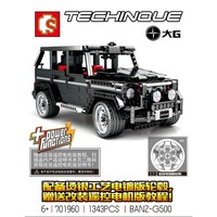 Sembo701960 Technic series G500 Mercedesal benzg big G model building blocks set Classic educaiton model