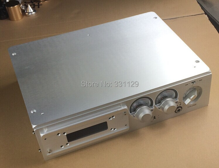 breeze audio 2015 new listed HI FI luxurious aluminum chassis with double Level meter BZ3208N