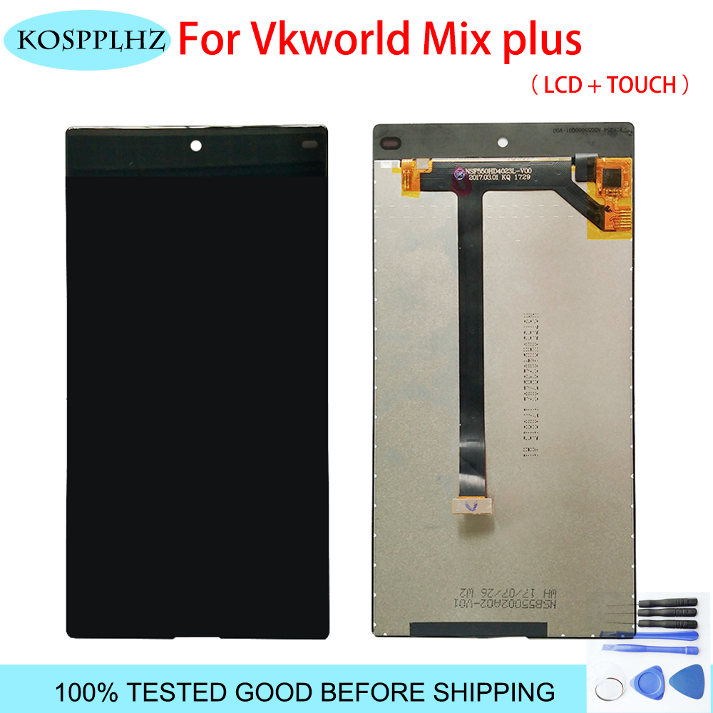 100 New Digitizer Screen Glass Panel For Vkworld Mix plus LCD Display Touch Screen Assembly 5