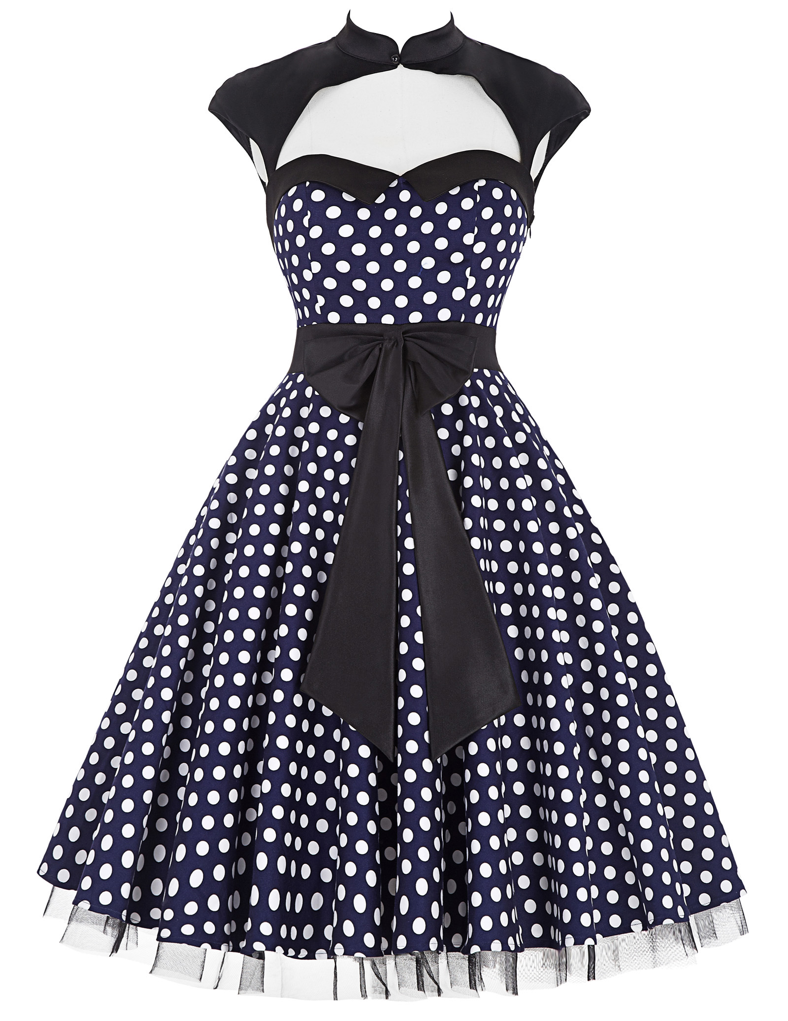 best top 16 retro polka dot dance dress list and get free shipping
