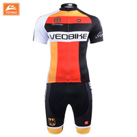 VEOBIKE Germany Pro Bicycle Wear Cycling Jersey Set Summer Cycling Clothing Ropa Ciclismo MTB Bike Clothing 3D Gel Pad Pants