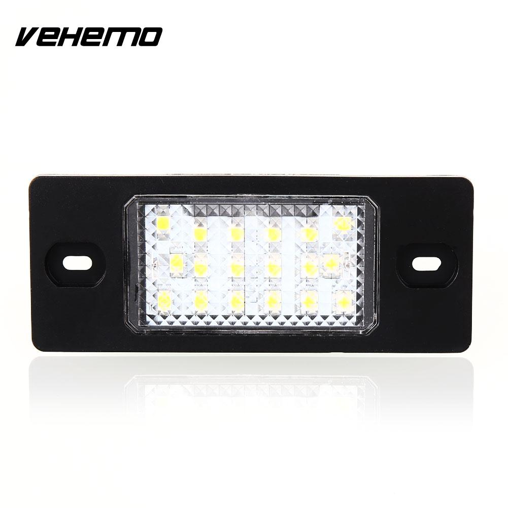 Vehemo 2pcs 18 LED 12V License  Plate For Porsche Cayenne Car Accessories Vehicle Taillight Universal For BMW BENZ AUDI FORD VW