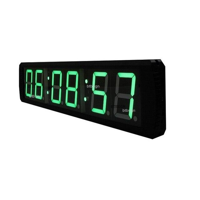 Ultra Lumineux Vert Couleur 4 \'\'Horloge Murale LED Compte À Rebours ...
