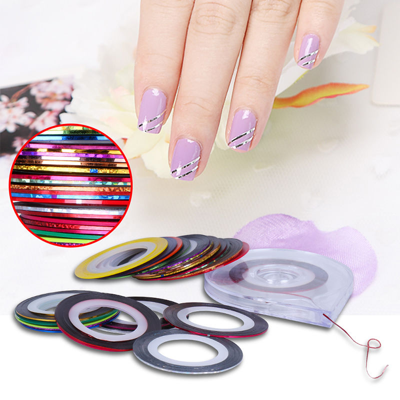 Aliexpress Beau Gel 2pcs Rolls Striping Tape Line Nail Art Tips Decoration Design Diy Sticker Care Case Box Holder Manicure Tools From Reliable