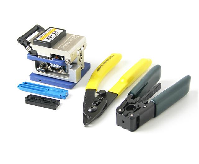 5 em 1 Kit de fibra óptica Ftth com cutelo FC-6S fibra e dupla de Miller fio de decapagem stripper usar Fttx Ftth