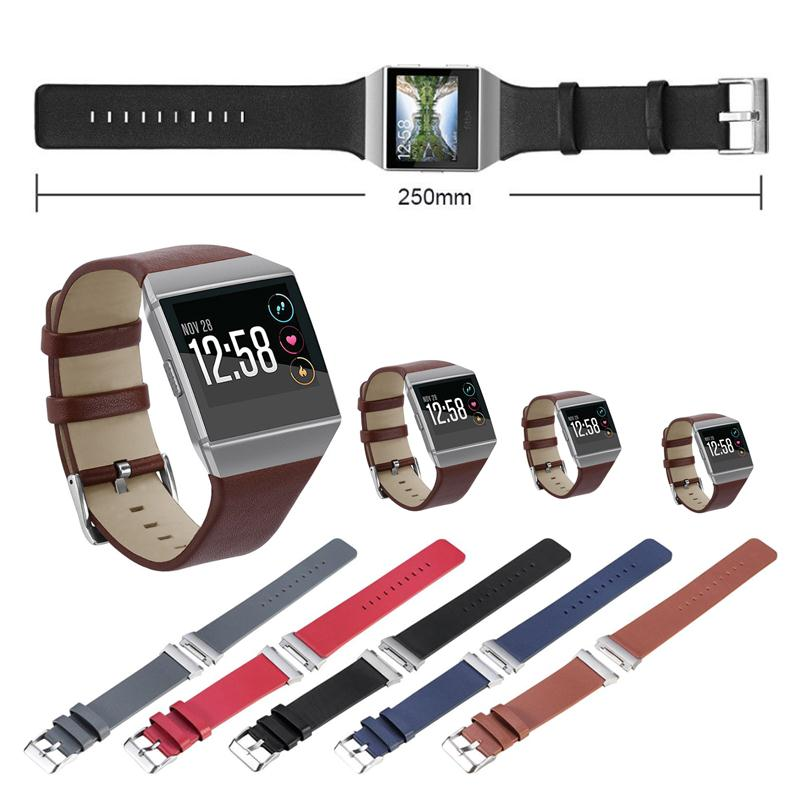 Cewaal Hot Classic PU Leather Wrist Strap Adjustable Replacement Parts For Samsung Fitbit Ionic Smart Watch Bracelet Wristband