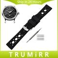 Pontos de caucho de silicona correa para maurice lacroix obra maestra correa de reloj pulsera de la pulsera 19mm 20mm 21mm 22mm 23mm 24mm