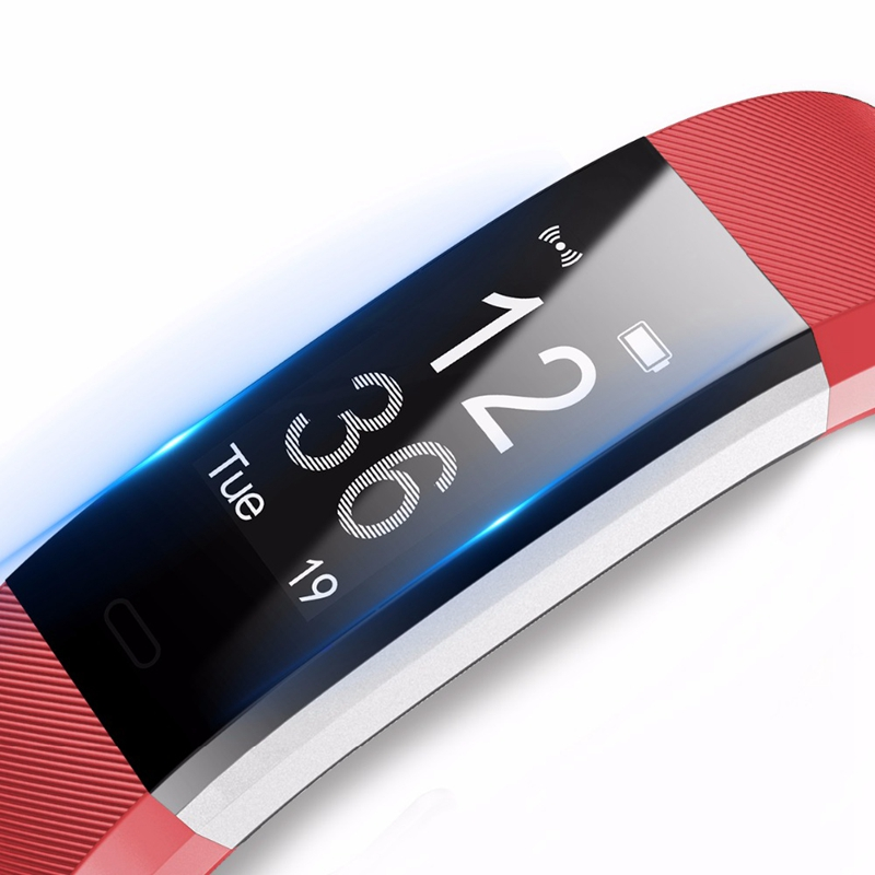 цены ID115 Smart Watch Fitness Sport Wristband Watch for IOS Android iPhone Heart Rate Monitor Tracker Men Women Watch OLED Bracelet