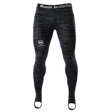 Мужские компрессионные колготки, леггинсы для бега, спортивные мужские штаны для спортзала, фитнеса, быстросохнущие штаны, тренировочные штаны для йоги и ММА