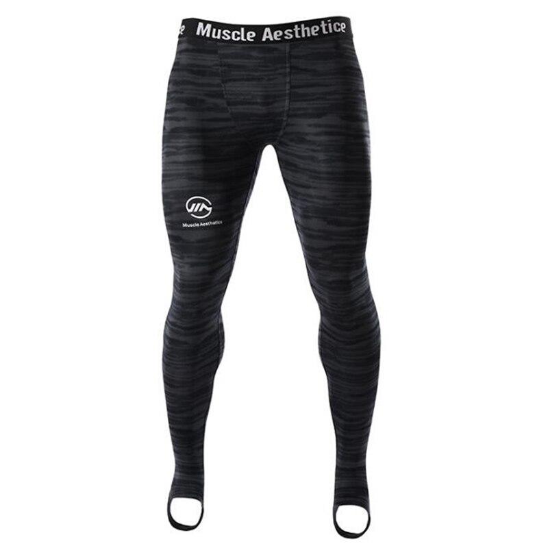 Mens compresión Leggings correr deportes gimnasio Fitness pantalones de secado rápido entrenamiento Crossfit Yoga Pantalones
