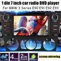Para B/MW Série 3 E90 E91 E92 E93 1 Din 7 de polegada Carro DVD Player de Vídeo rádio GPS/WIFI/4G/entrada de câmera traseira nova